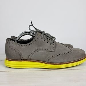 Cole Haan Lunargrand Yellow Wingtip Oxford Shoes